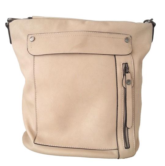 Γυναικεία τσάντα ώμου Flora & Co. NO6601 Μπέζ ιβουάρ