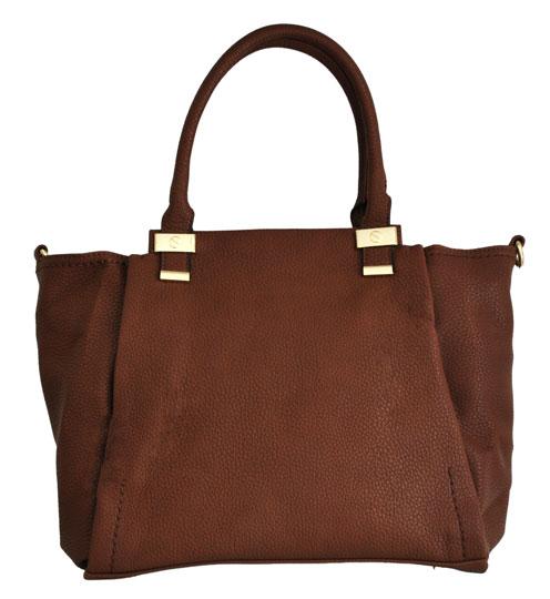 Καφέ γυναικεία τσάντα ώμου Fraless OS14838