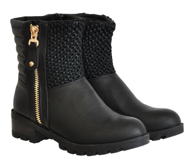 Μαύρο biker boot CM Paris LT073-A04