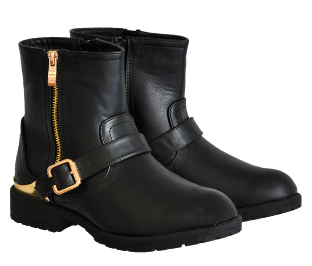 Μαύρο biker boot CM Paris QF0168-02