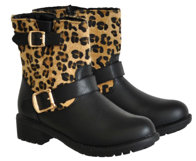 Leopard biker boot CM Paris Y8553
