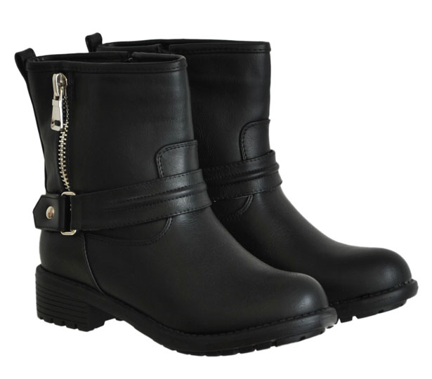 Μαύρο biker boot CM Paris Y8503