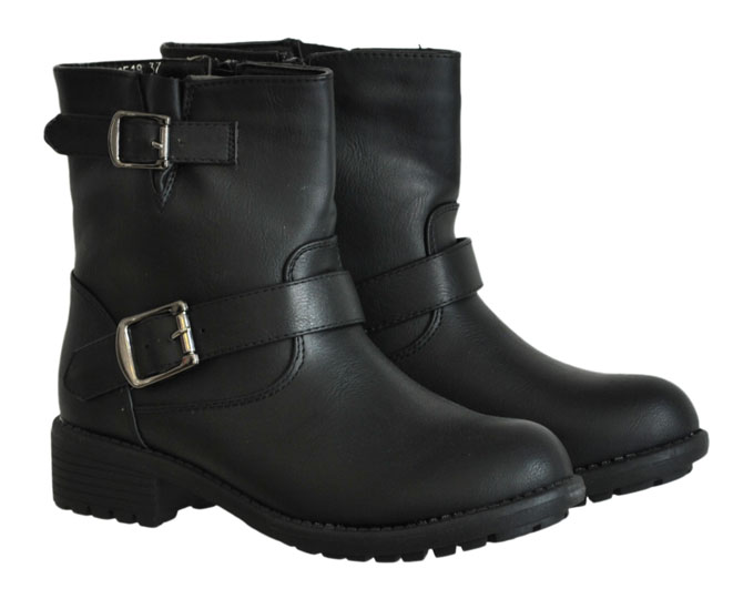 Μαύρο biker boot CM Paris Y8518