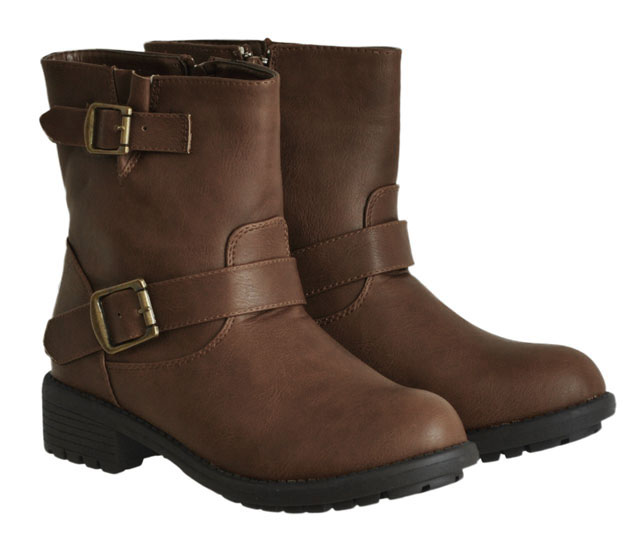 Καφέ biker boot CM Paris Y8518