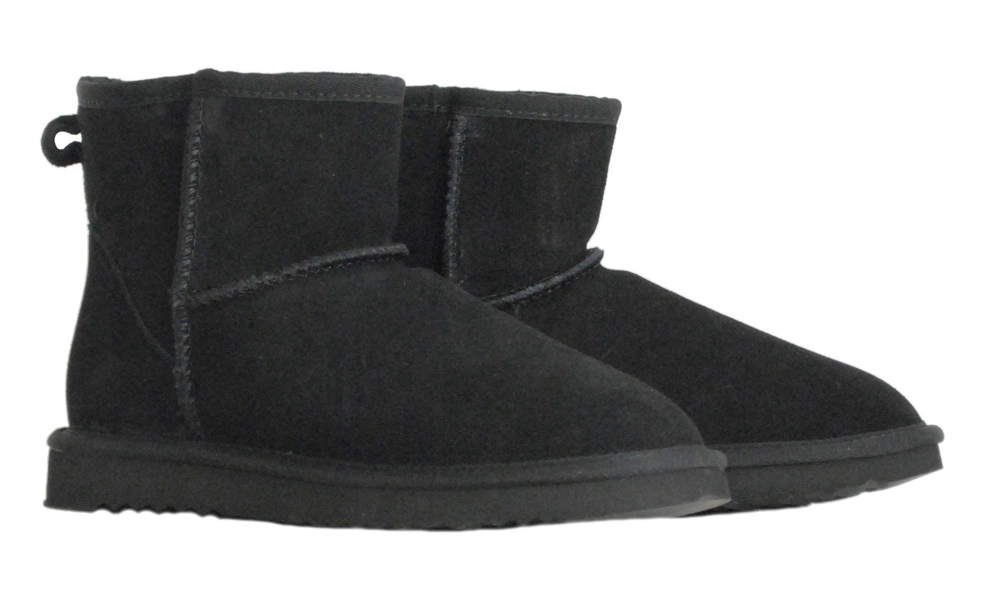 Μαυρο δερμάτινο Australian Boot 5854 Short