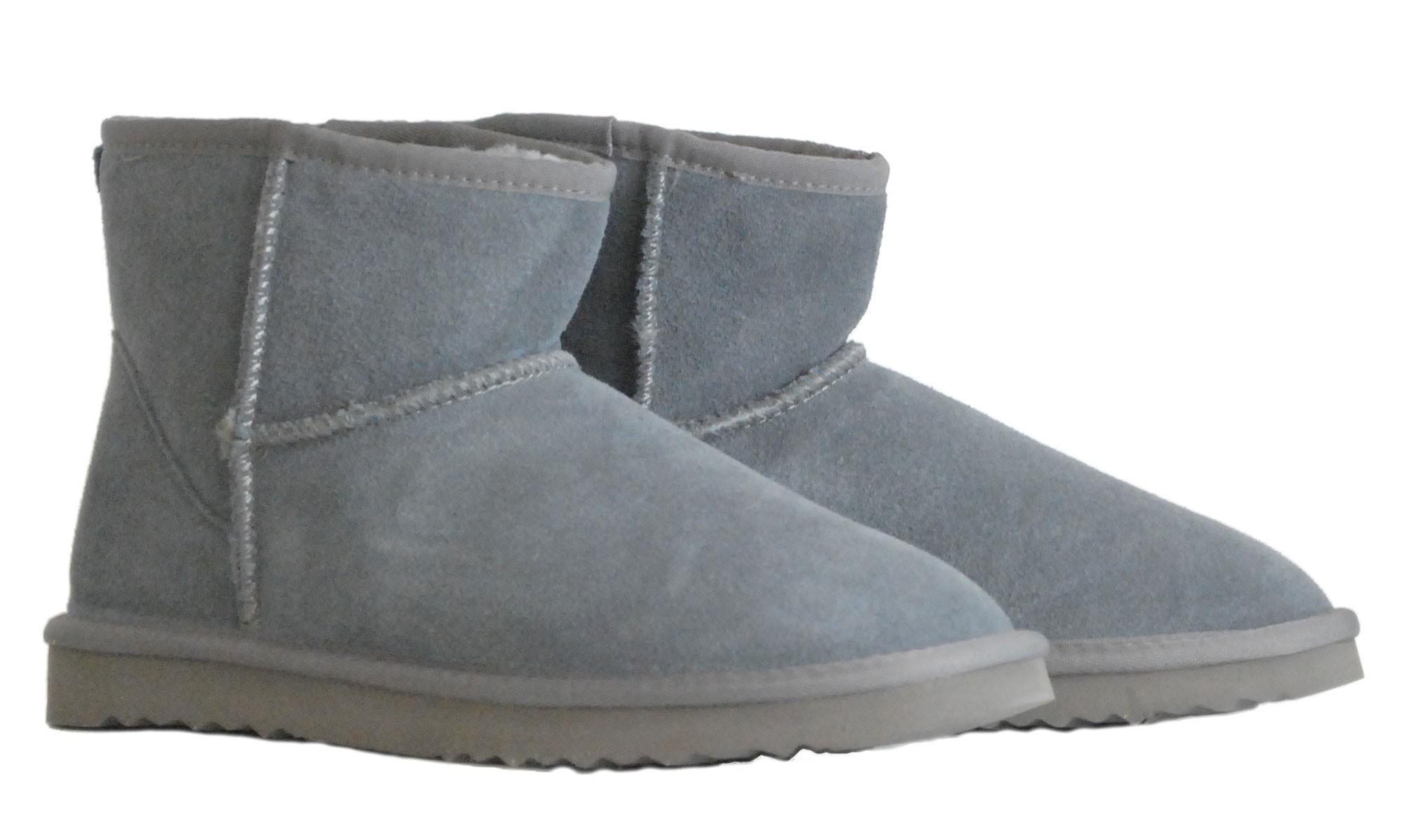 Γκρι δερμάτινο Australian Boot 5854 Short