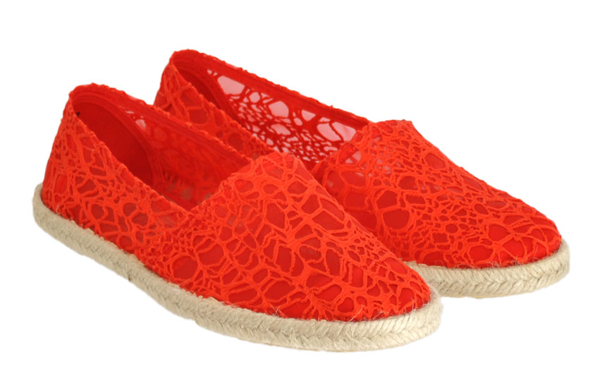Εσπαντρίγιες miMaO 2105 Κόκκινο δαντέλα