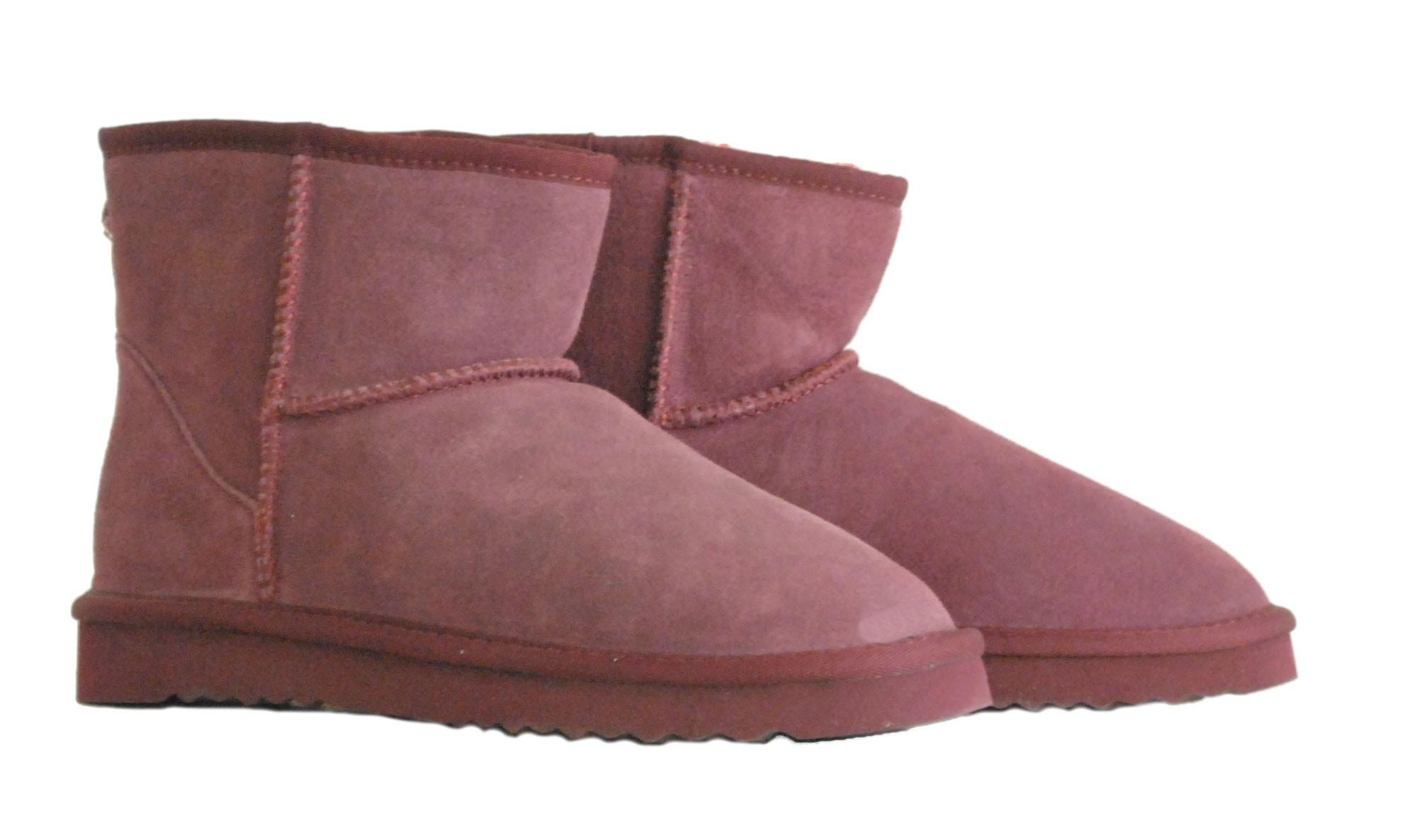 Μπορντο δερμάτινο Australian Boot 5854 Short