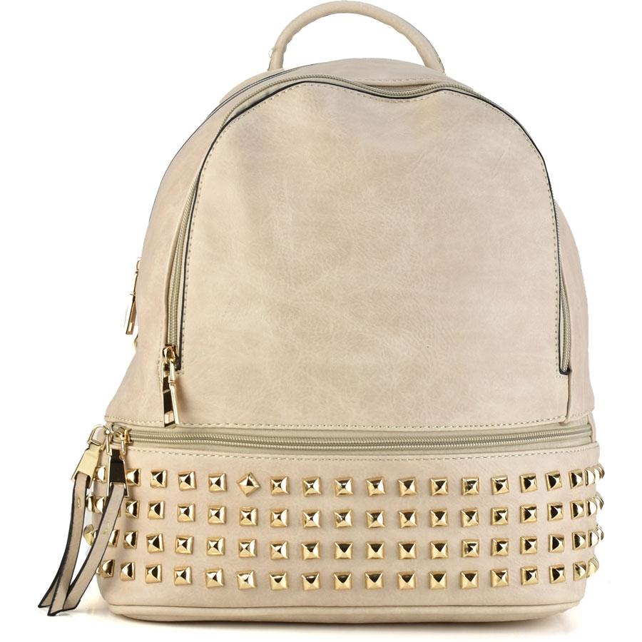 Μπεζ σακίδιο πλάτης με τρουκς Coo &Co Fashion 0998-Β1