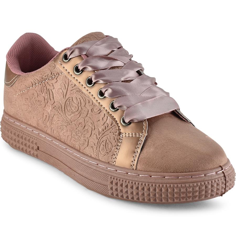 Ροζ sneakers με κέντημα 16-522