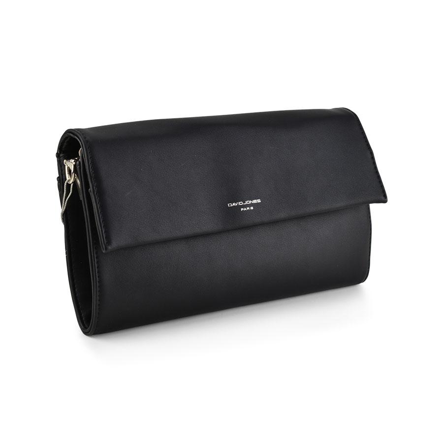 Μαύρη τσάντα χειρός David Jones CM3513