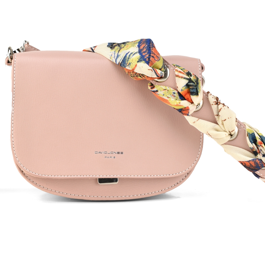 391f1a55dc Ροζ τσάντα ταχυδρόμου David Jones CM3764