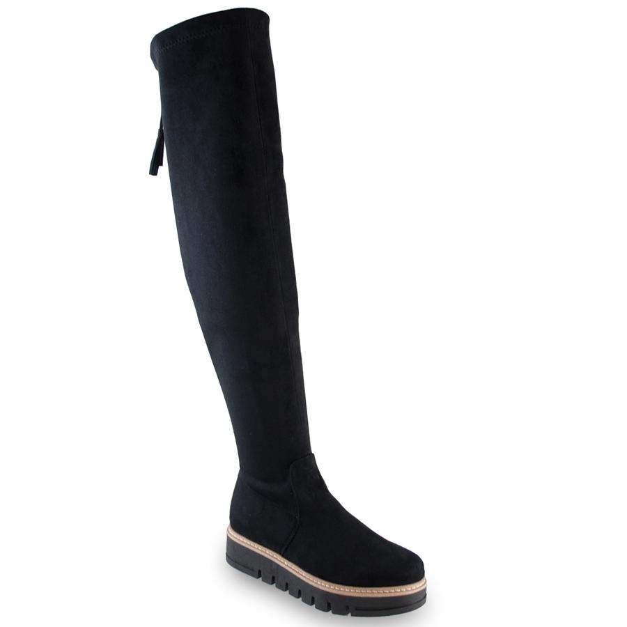 Μαύρη σουέντ μπότα Beatrice R240