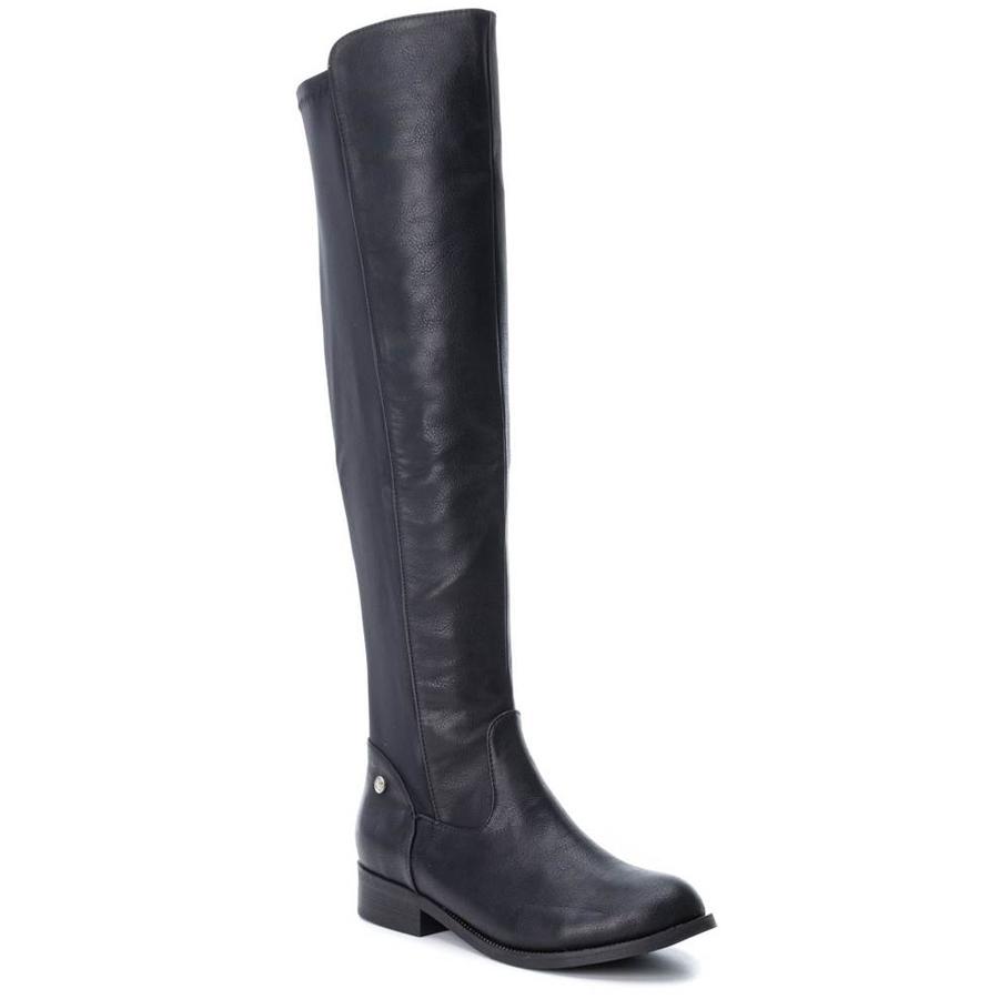 Μαύρη μπότα πανω απο το γόνατο Xti 47382