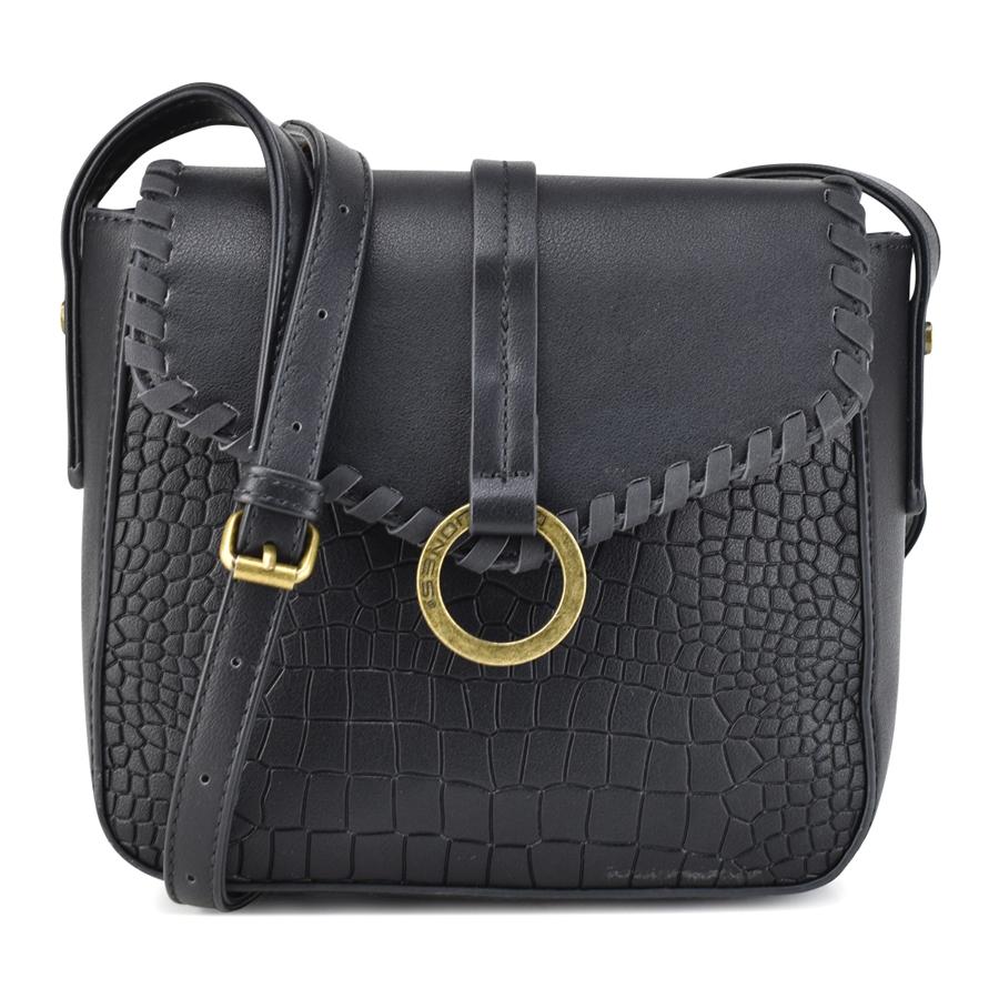 Μαύρη τσάντα ταχυδρόμου David Jones 5630-1