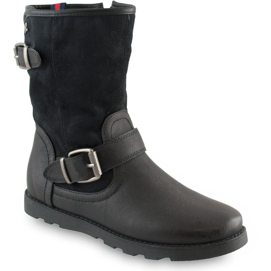 Μαύρα biker boots Refresh 62233