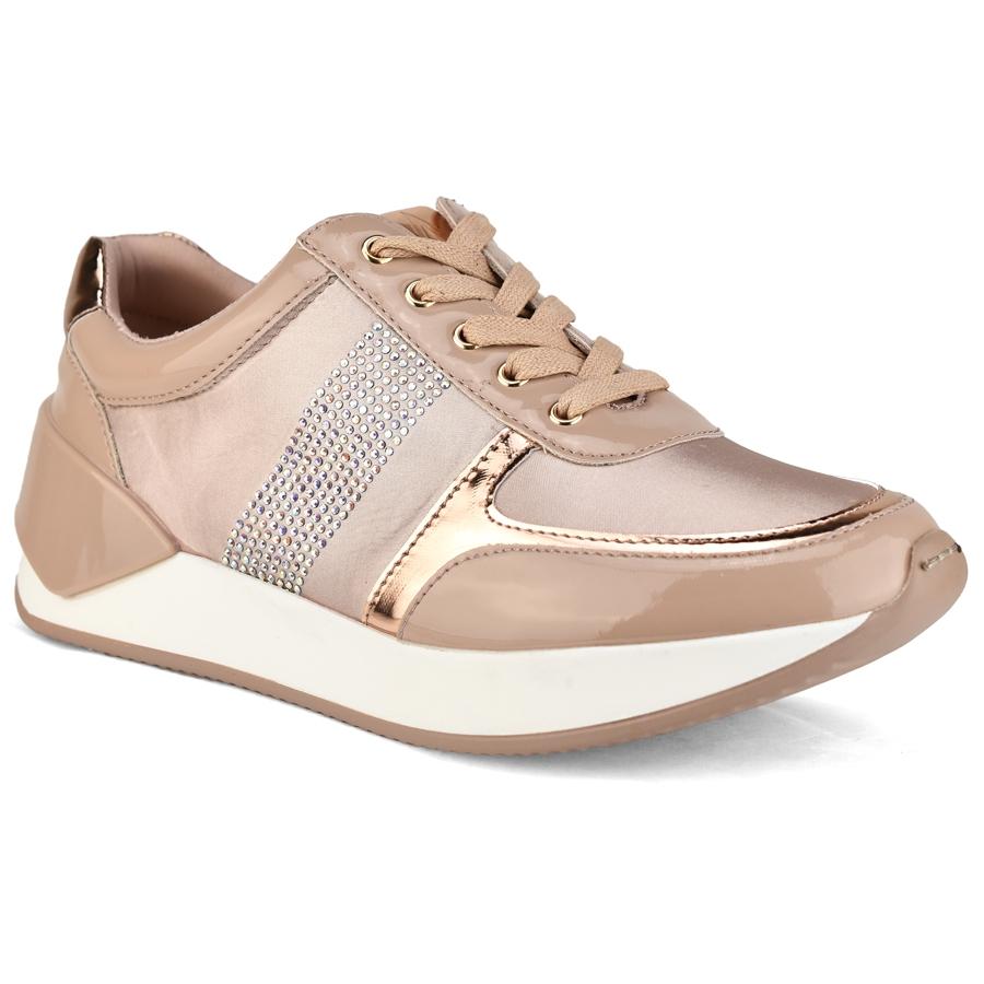 Nude sneaker με στρας MariaMare 66990