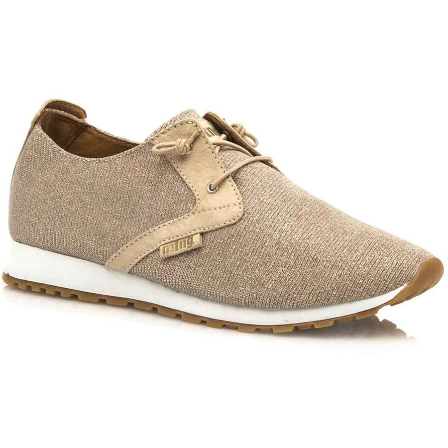 Nude sneakers με glitter MTNG 69158