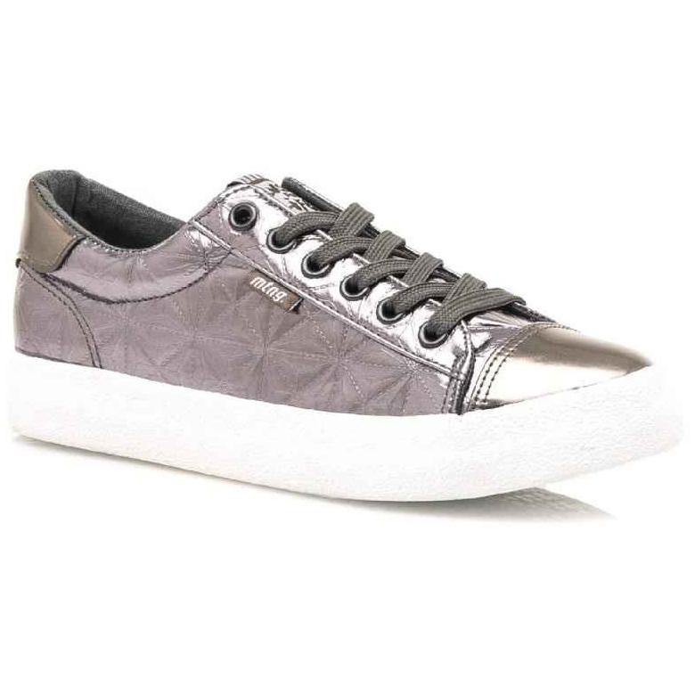 Γκρι μεταλλικά sneakers MTNG 69239
