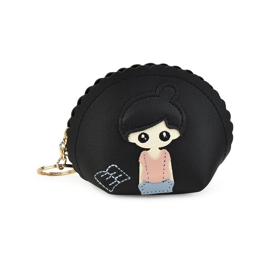 Μαύρο πορτοφολάκι Girl X712