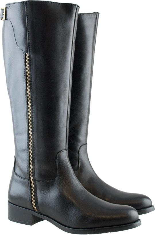 Δερμάτινη μαύρη μπότα Natalia Blanco 72410 γυναικεια   μποτες