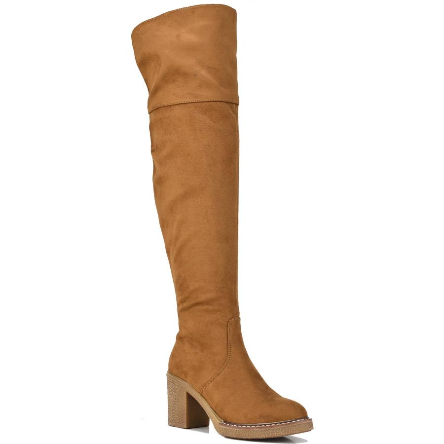 Καμελ μπότα πάνω απο το γόνατο Lets Walk JN77-16
