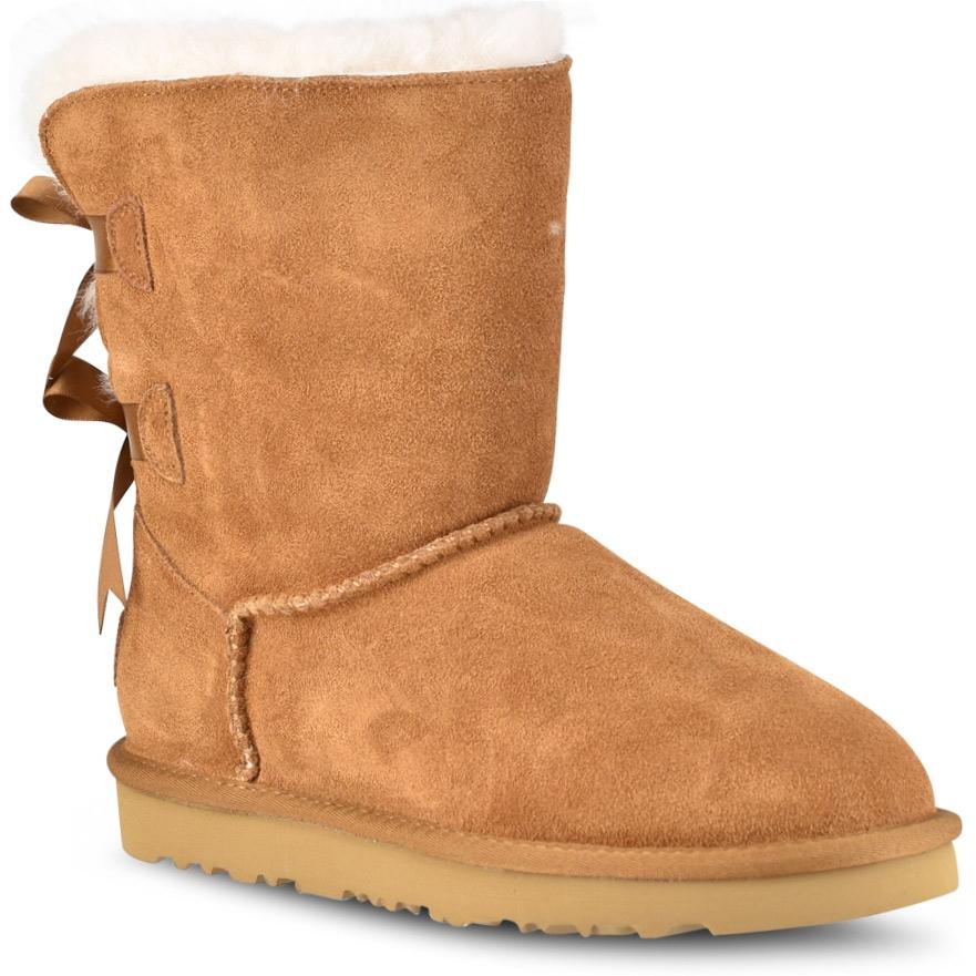 591dfaf2077 Γυναικεία παπούτσια Ταμπα δερμάτινο Australian Boot με κορδέλα L7831 | My  Lady Shoes