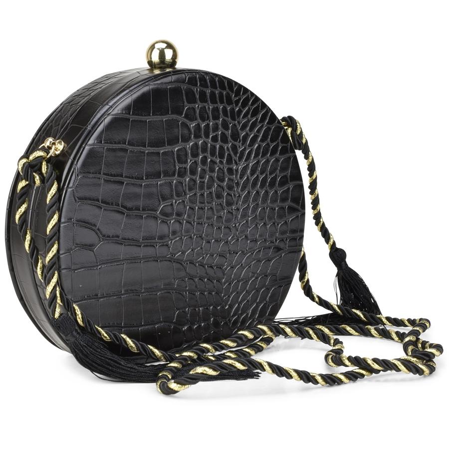 Μαύρη τσάντα χιαστή 8795