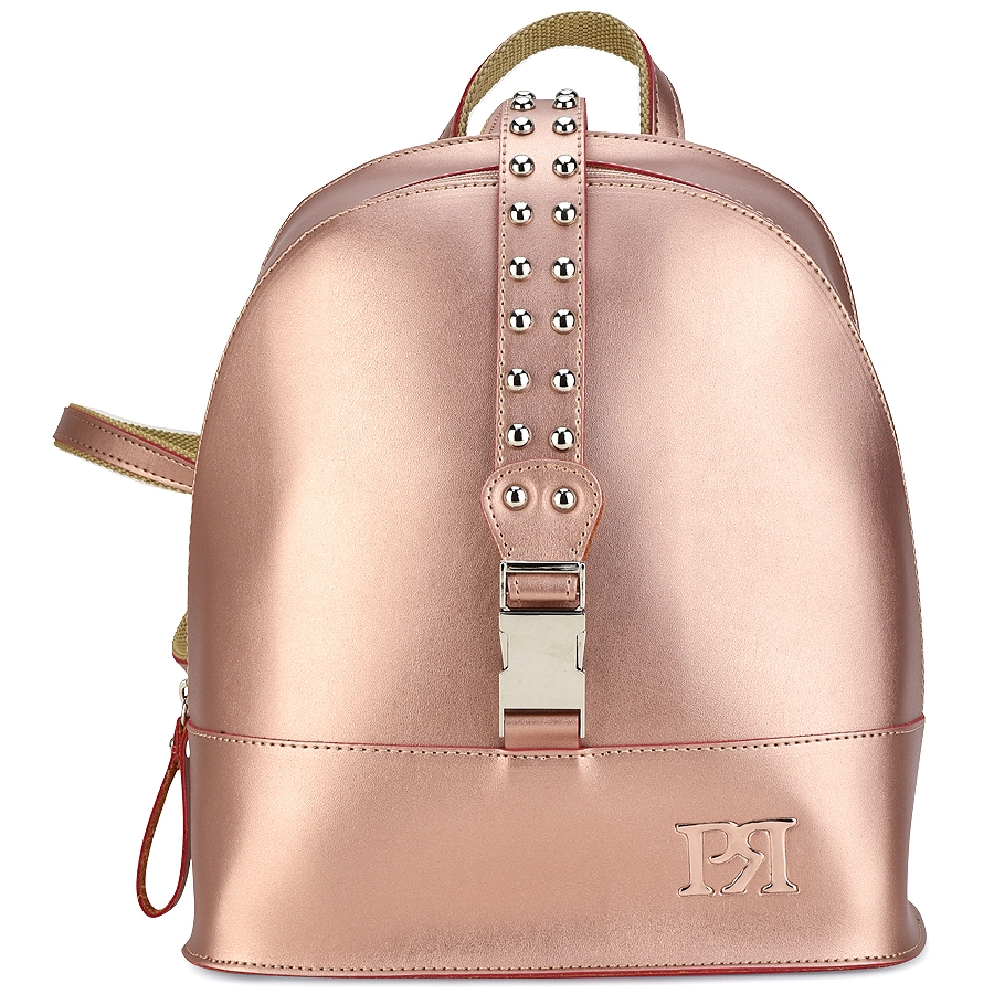125fe31ec9 Χάλκινο eco-leather σακίδιο πλάτης Pierro Accessories 90488