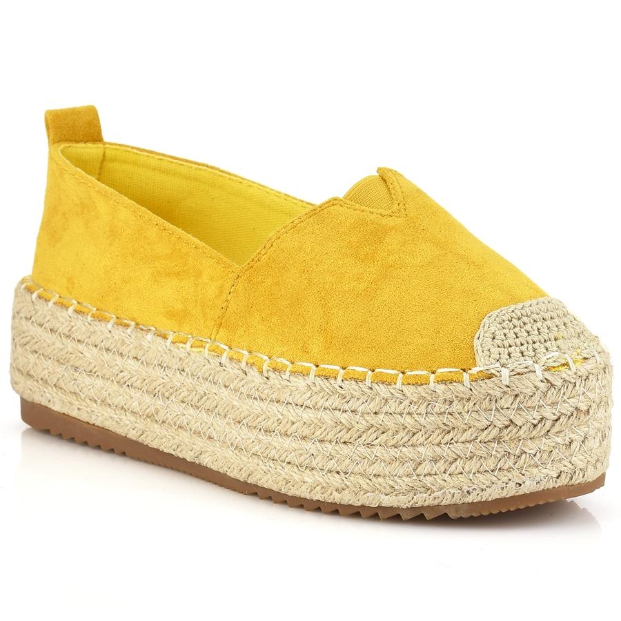 Κίτρινες σουεντ εσπαντριγιες B1-0149L