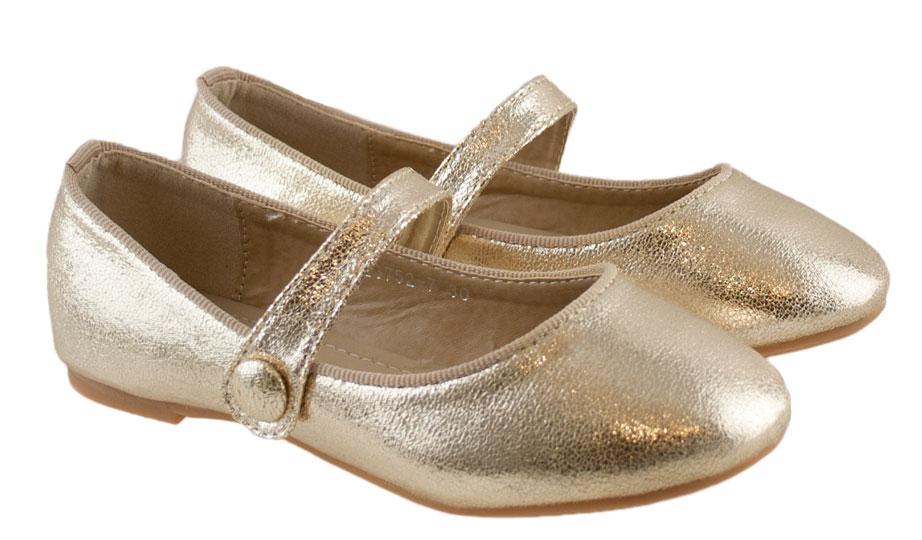 Χρυσή παιδική μπαλαρίνα Chochoula 3752