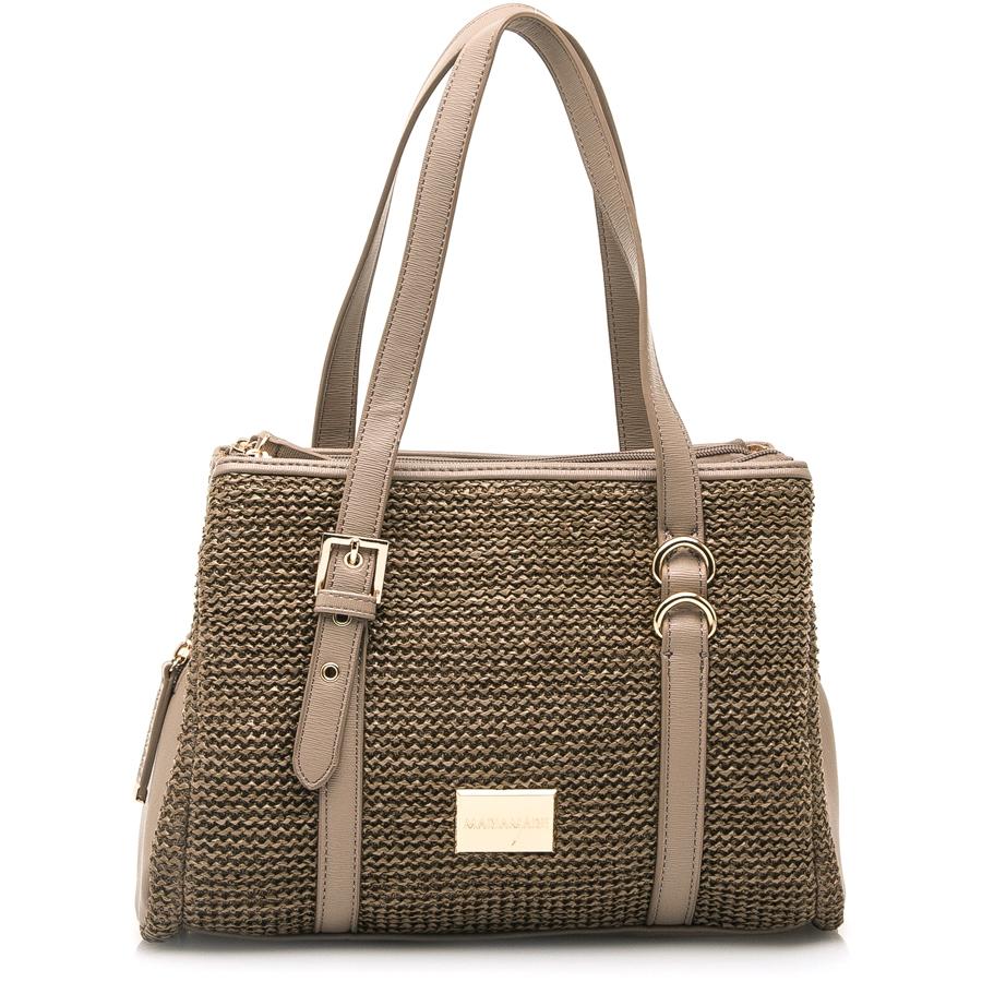 Πούρο πλεκτή τσάντα ώμου MariaMare Bella 596c26e01f1
