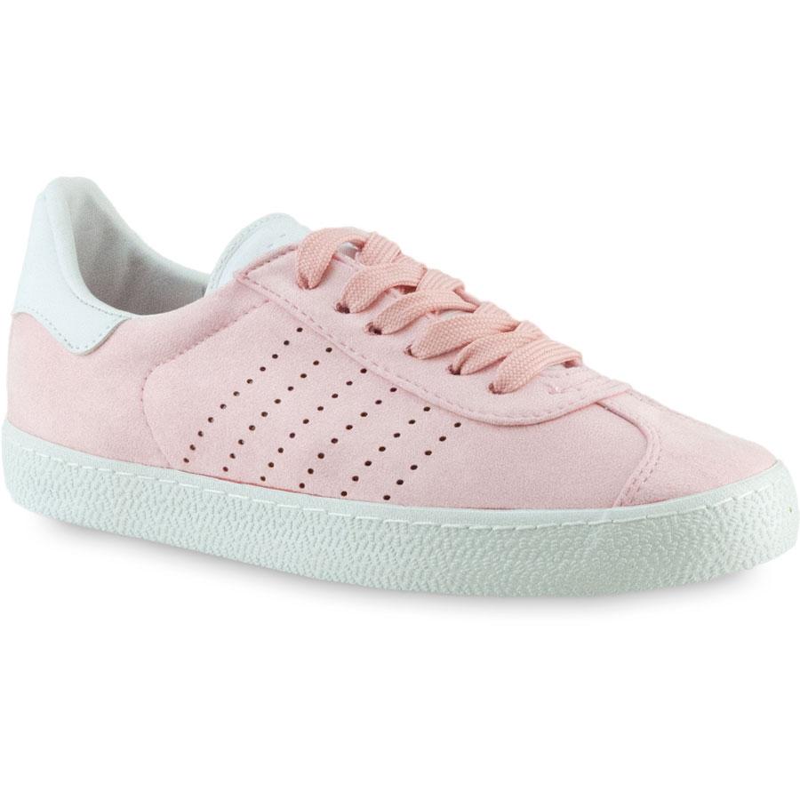 Ροζ σουεντ sneakers Exquily BK303