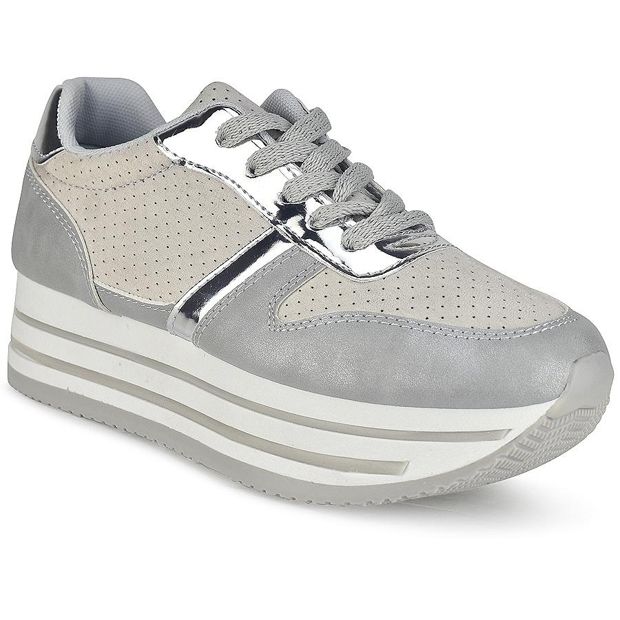 -44% Izyshoes Γκρι δίπατα sneakers BK368 590d584d0cf