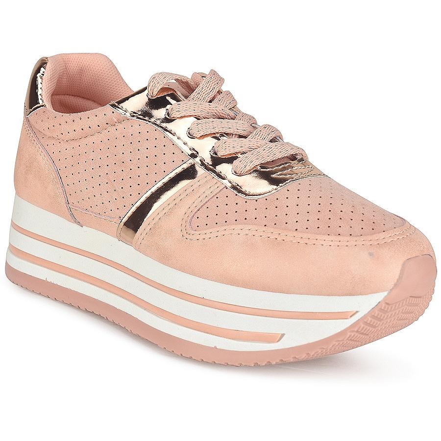 Ροζ δίπατα sneakers BK368