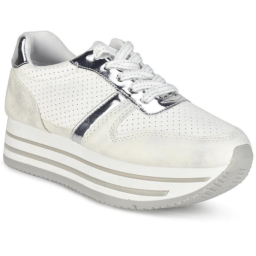 -44% Izyshoes Λευκά δίπατα sneakers BK368 7018eebc53c