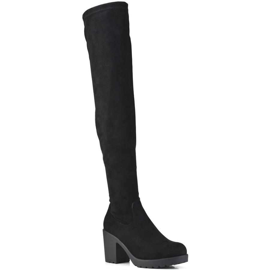 Μαύρη μπότα με τακούνι BM106