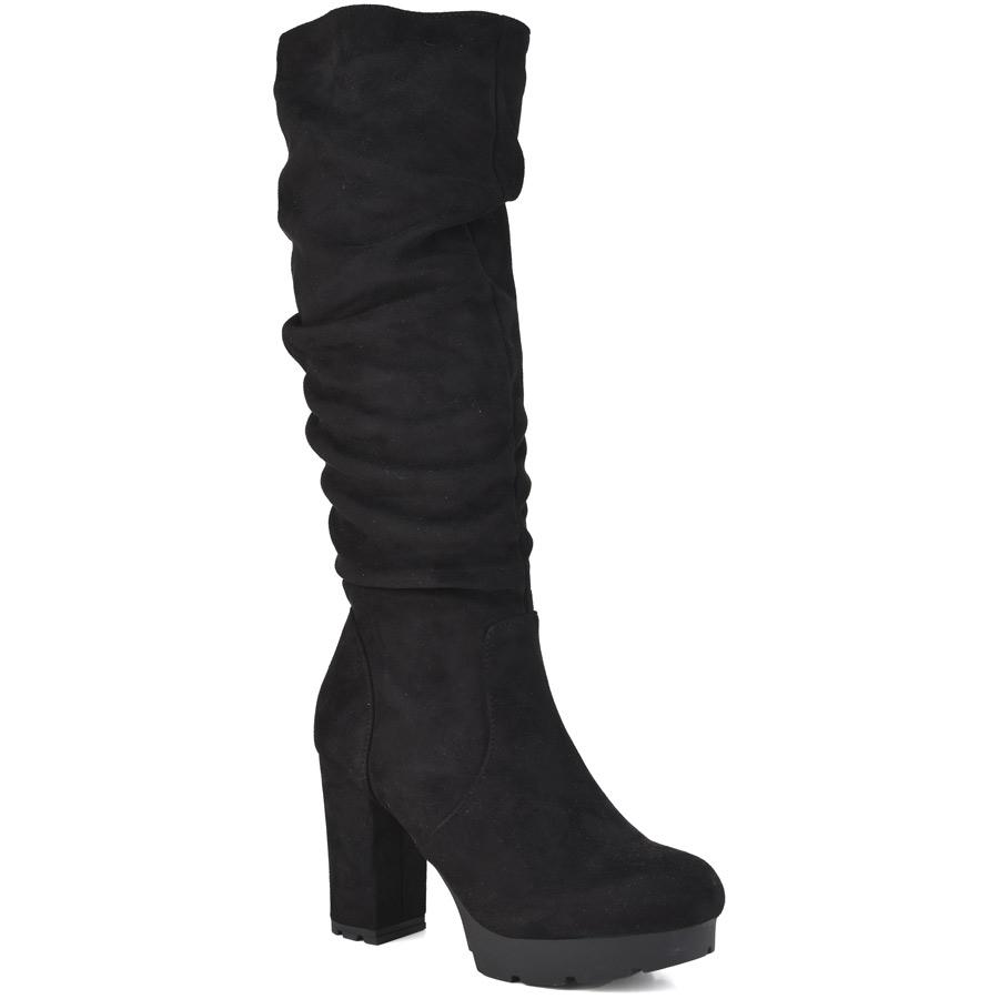 Μαύρη μπότα με τακούνι BM116