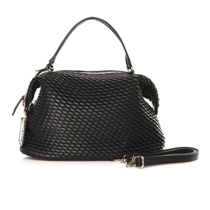 Μαύρο καπιτονέ τσάντα ώμου MariaMare Britany γυναικεια   τσαντες
