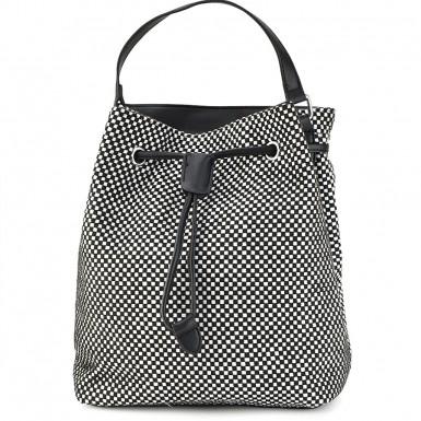 11f0a68b5a Νέο Ασπρόμαυρη τσάντα πουγκί Α234