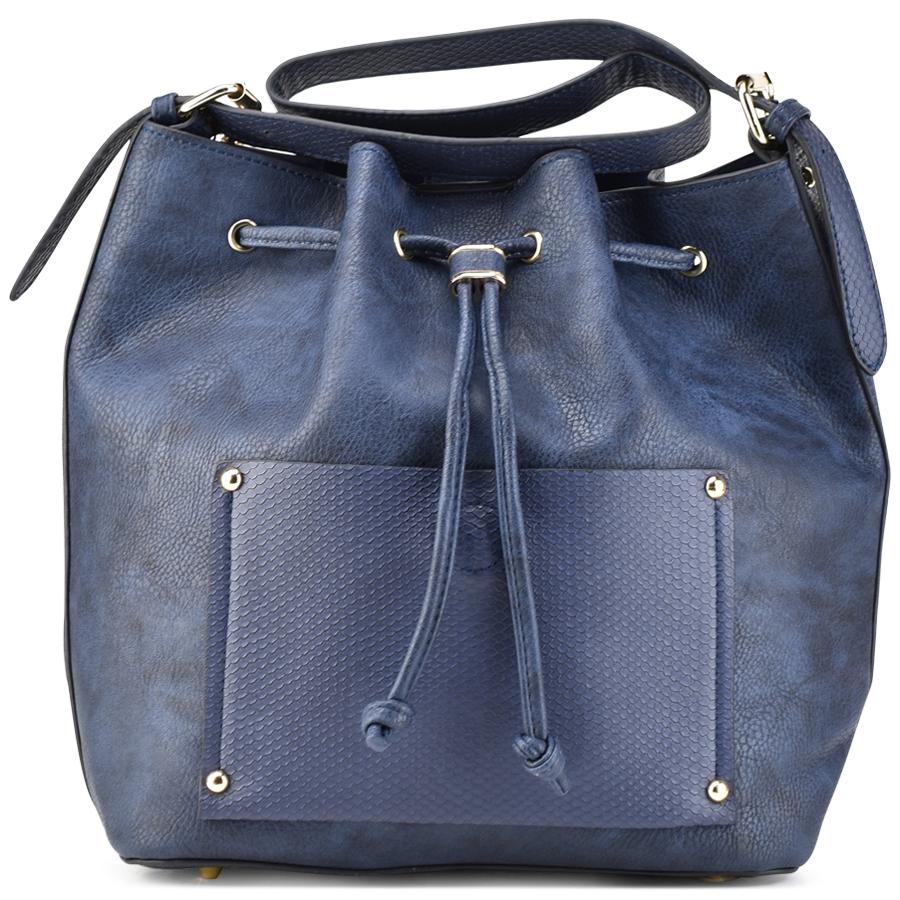Μπλε τσάντα πουγκί Dupla Feliciade DF1272