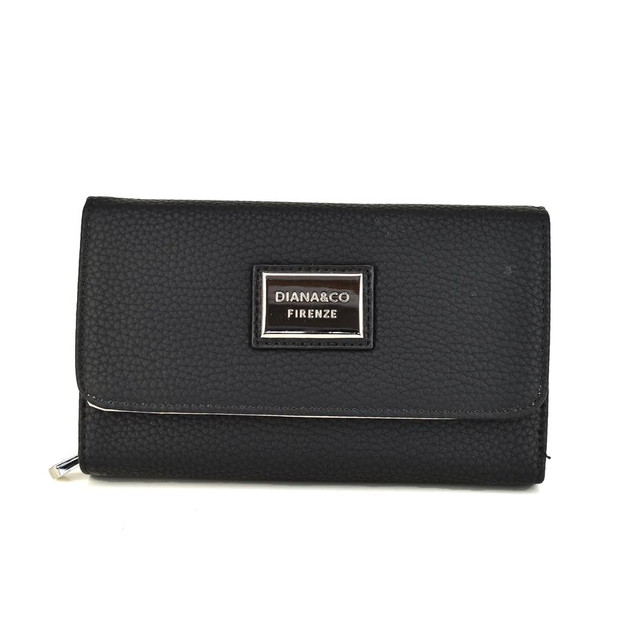 Μαύρο πορτοφόλι Diana & Co. DFX1391-3