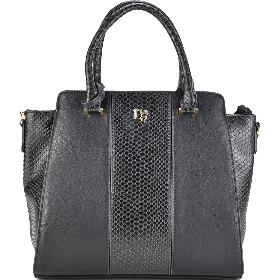Μαύρη τσάντα ώμου Dupla Feliciade DF2018
