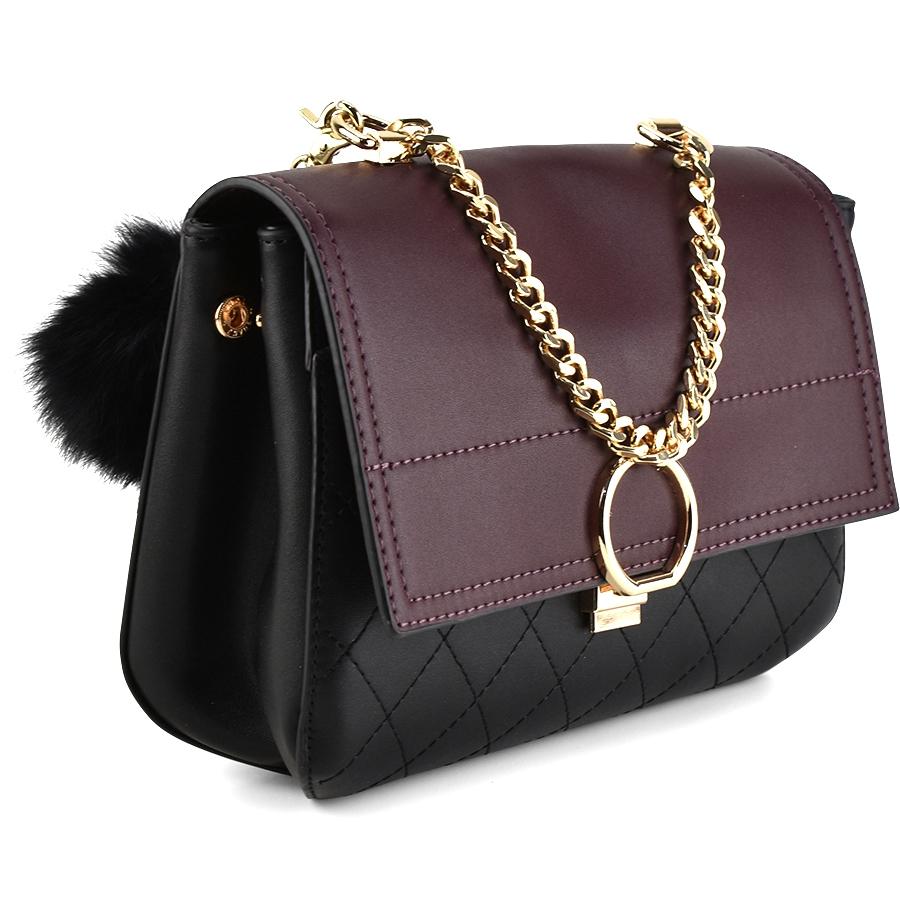 Μαύρο/Μπορνώ τσάντα χειρός Dupla Feliciade DF4012
