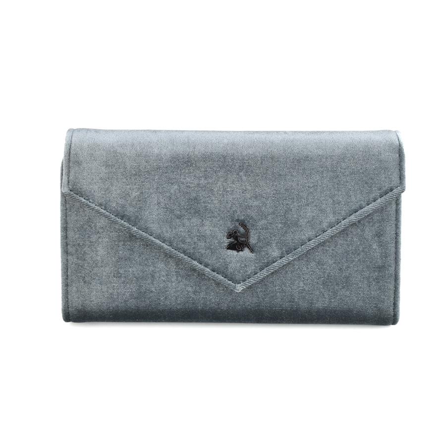 Γκρι βελούδινο πορτοφόλι Diana & co. DFX299-3