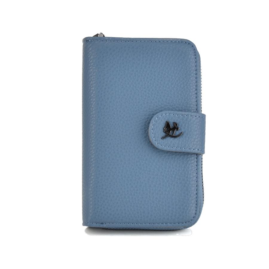 Μπλε βελύδινο πορτοφόλι Diana & co. DFX296-1
