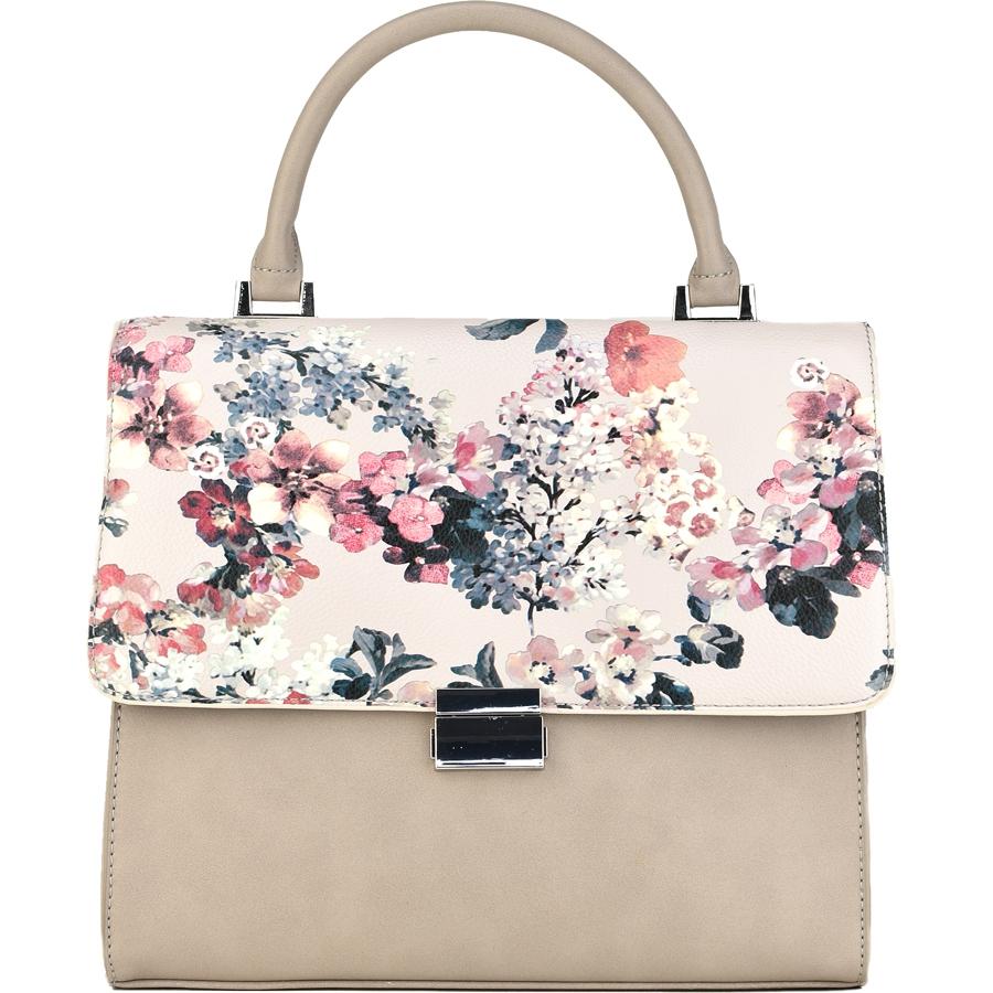 Μπεζ τσάντα χειρός με κέντημα Diana & Co. DPW1361-3