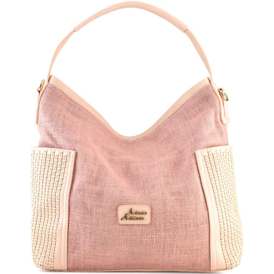 Ροζ τσάντα ώμου Adonio Adriano AD175