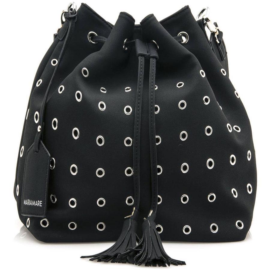 Μαύρη τσάντα πουγκί MariaMare ESTER c91d9993b14