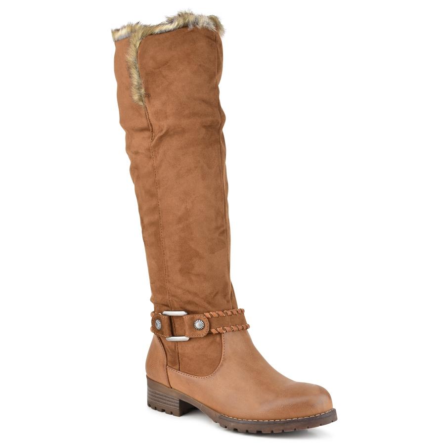 Ταμπα μπότα με λεπτομέρεια απο γούνα F2166